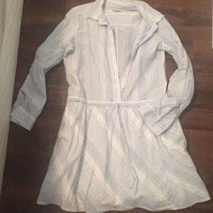 Gap small summer dress 100% cotton blue and white